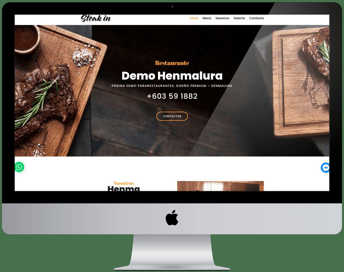 Restaurante Diseño web Profesional