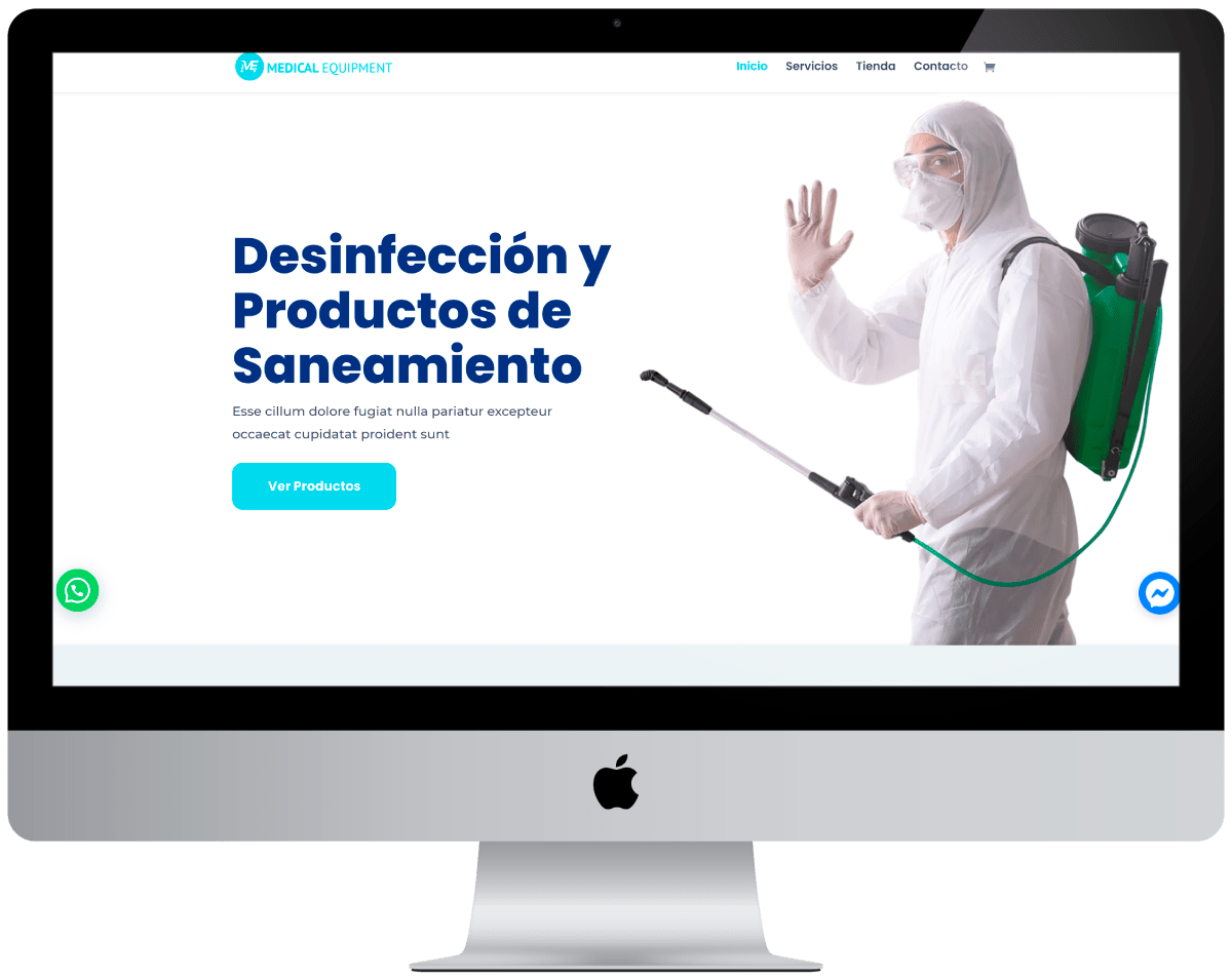 Servicio de Desinfeccion Diseño web Profesional
