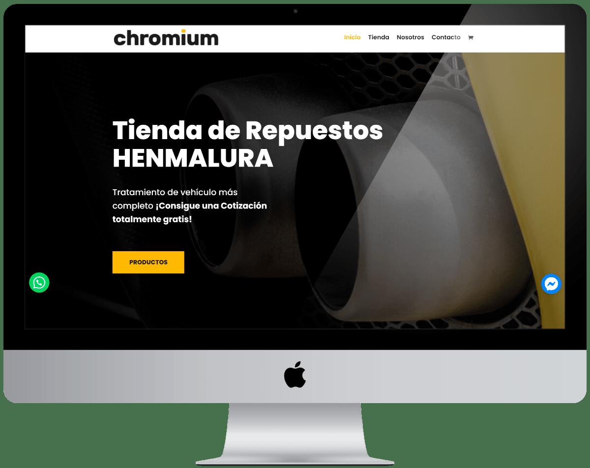 Tienda de Repuestos Diseño web Profesional