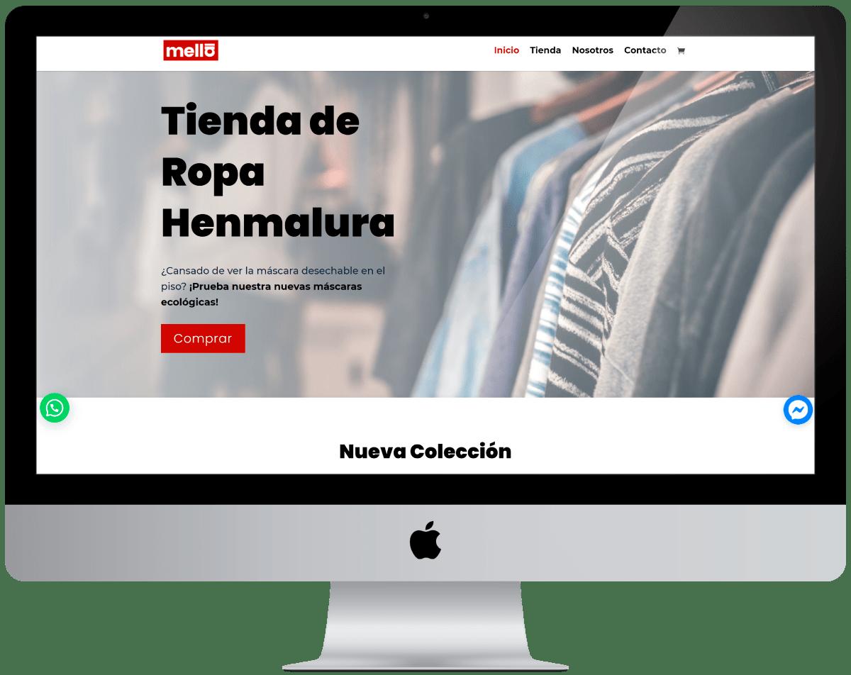 Tienda de Ropa Diseño web Profesional